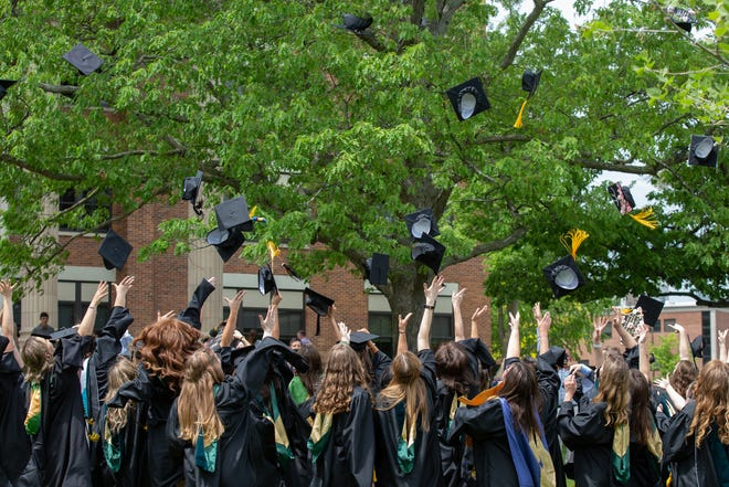 After the coronavirus pandemic derailed last year's on-campus celebration, students from both the Classes of 2020 and 2021 took part in this year's 112th Keuka College Commencement.