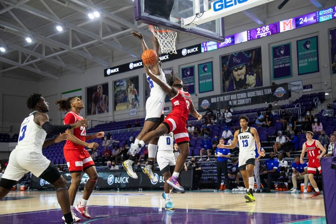 Bruce Thornton shoots against IMG Academy. Rivals.com analyst Jamie Shaw compares Thornton to former Ohio State player Scoonie Penn and Michigan State's Mateen Cleaves.