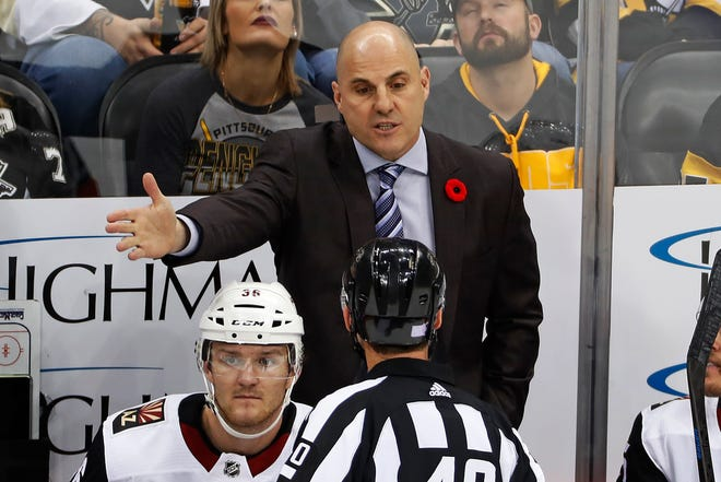 Rick Tocchet compiled a 178-200-60 record in six years as head coach of Tampa Bay and Arizona.