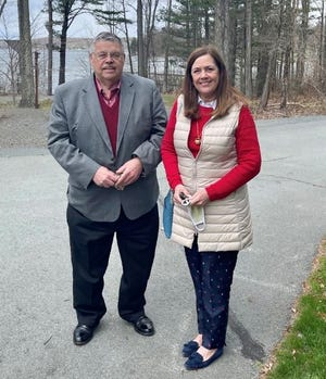 PA Senator Lisa Baker (R-20), at right, introduces Tony Herzog as her new part-time Field Representative serving at the Hawley area office. / Contributed photo