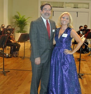 Jacksonville Symphony president/CEO Steven Libman and BRASS president Katheryn Hancock welcomed guests to the annual BRASS gala.