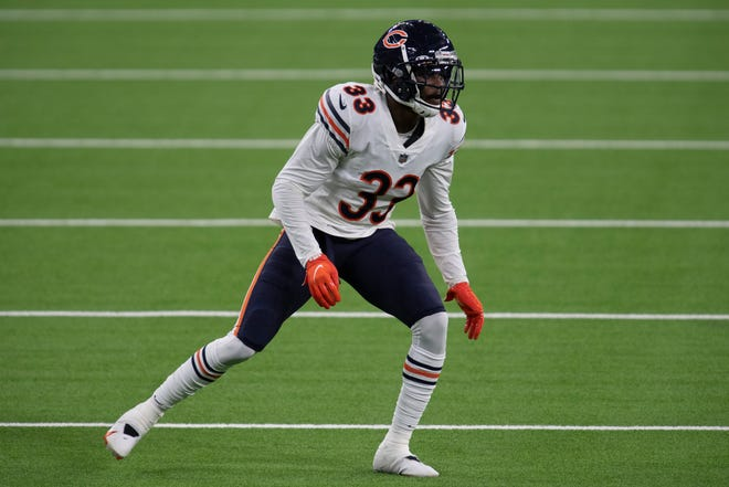 The Chicago Bears believe they have an emerging No. 1 cornerback in Jaylon Johnson, the second-round pick from last season, who played well in his rookie debut.