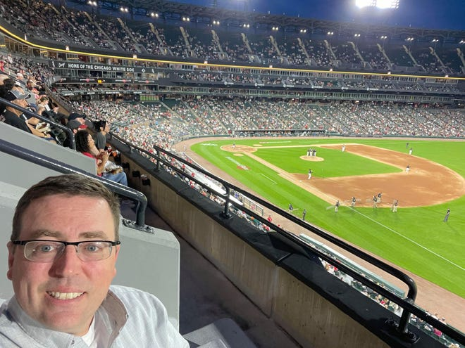Galesburg native Bob Bainter takes in Tuesday's game between the St. Louis Cardinals and Chicago White Sox at Guaranteed Rate Field in Chicago.