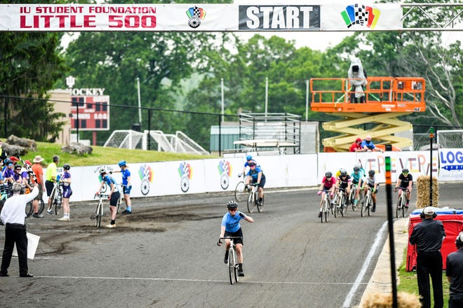 Delta Gamma crosses the finish line to win the 33rd running of the Women's Little 500.
