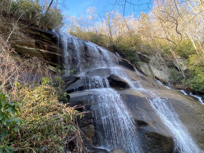 This Nov. 21, 2020 photo shows Daniel Ridge Falls in Transylvania County. Transylvania Always is rolling out a waterfall safety campaign with updated messaging and educational opportunities ahead of an expected busy summer season.