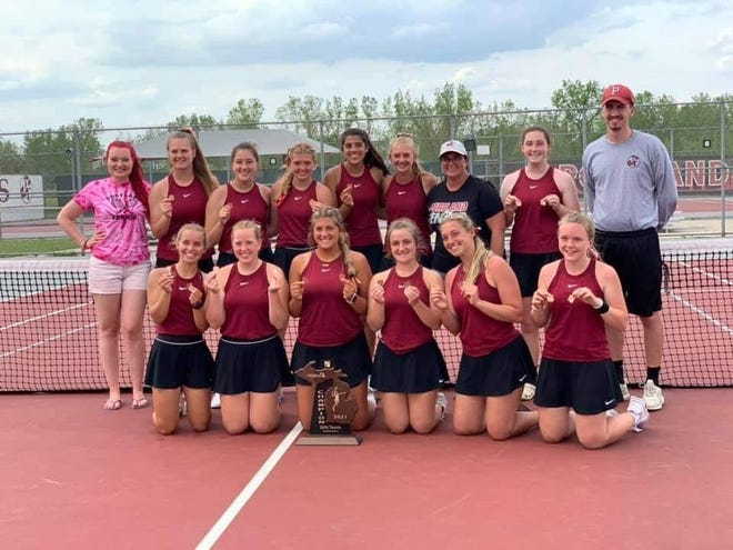 The Portland girls tennis team won a regional title to qualify for the state tournament.