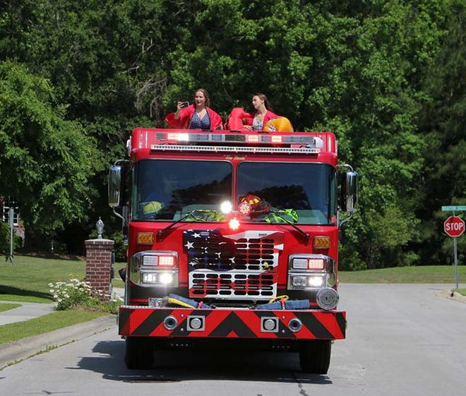 Jacksonville High School Class of 2021 recently held its Senior Vehicle Parade that began at Catalyst Church on Gum Branch through the Northwoods area. A variety of vehicles were used to celebrate the seniors.