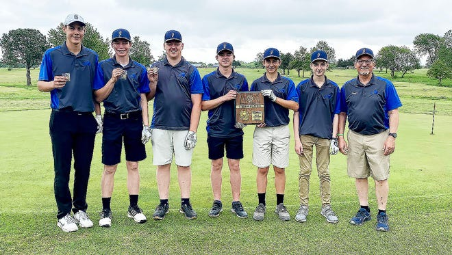 The Berean Academy golf team finished seventh at the Class 2A state tournament Monday in Salina. After winning a regional title, the Warriors were competing at state as a team for the first time. Two players — Jonathan Hoover and Grant Busenitz —qualified for championship play.