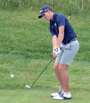 Mill Valley senior Nicklaus Mason claimed top medal honors at the Class 5A state tournament Tuesday at Sand Creek Station. The K-State signee finished five under par, winning the tournament by a stroke.