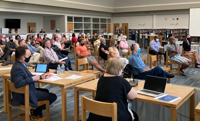 About 45 people attended the Hudson Board of Education meeting on Monday, May 24. A little more than two-thirds of the about 20 people who spoke said they objected to the manner in which race and racism was being explained to the students.