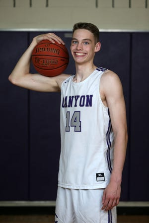Canyon's Kemper Jones was named the Amarillo Globe-News Newcomer of the Year. Jones, who suffered a torn ACL as a freshman, bounced back as a sophomore and is pictured in his home gymnasium May 25, 2021 in Canyon