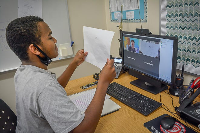 Ajene Robinson, a junior in a Monroe County Intermediate School District special education program based at Monroe High School, discusses his dream of becoming an animator at Nickelodeon. He speaks with Andrew Capuano, a storyboard artist at the network, via Zoom.