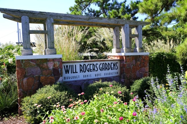 A view from Will Rogers Gardens.