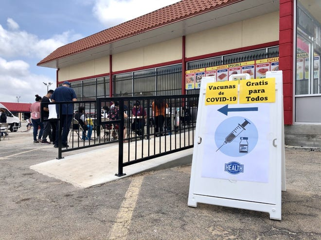 The Oklahoma City-County Health Department gave 52 COVID-19 vaccine doses at a pop-up clinic at Feria Latina Supermarket on Wednesday.
