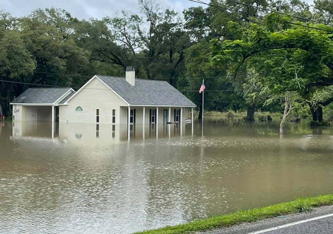 Numerous homes along Bayou Manchac took in water during the heavy rainfall last week.