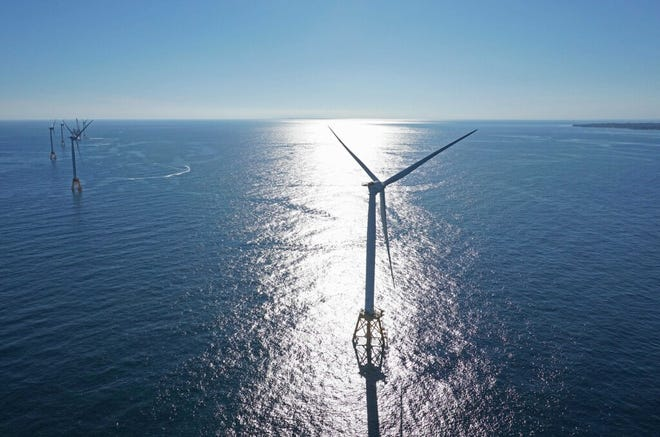 The project would put 12 wind turbines in waters southeast of Block Island.