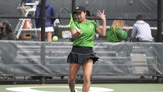 Janice Tjen is the first Oregon women's tennis player to advance to the semifinals of the NCAA Singles Championships.