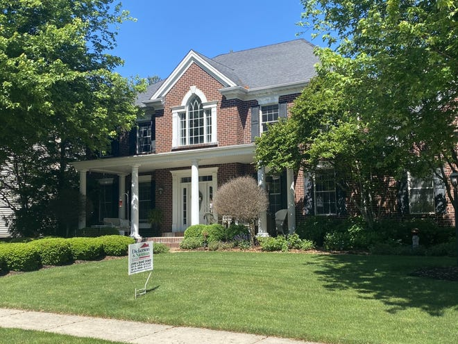 This home at 5386 Wilderness Trail in Rockford is on the market for $519,000. Home prices in the region are at their highest level on record because of low interest rates, high demand and a low number of properties for sale.