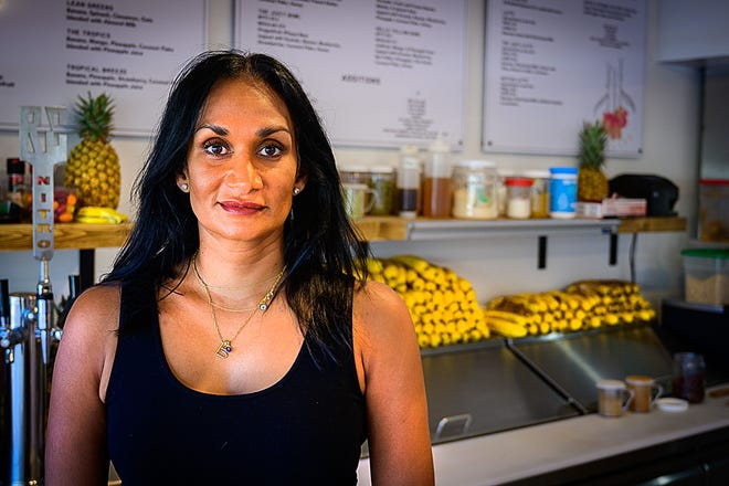 Julianne Baksh-Renfroe is the owner of Juicy Café on Anastasia Boulevard in St. Augustine.