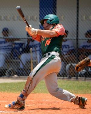 Collin Moore of the Florida Gulf Coast League's Bradenton Juice in action last season. COURTESY PHOTO