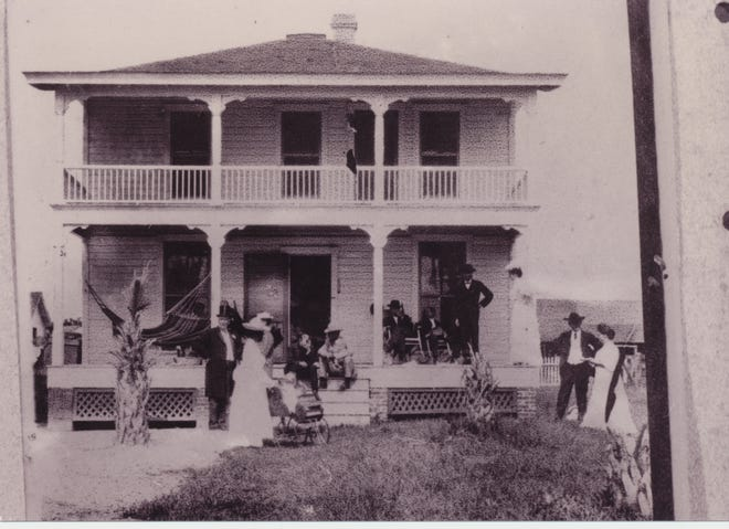 John Hamilton Gillespie's home, ca. 1887, was the first in the area to be built from architectural drawings.