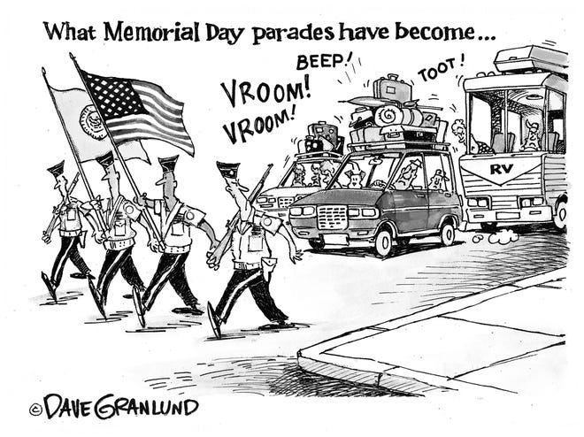 Memorial Day parades versus holiday travel