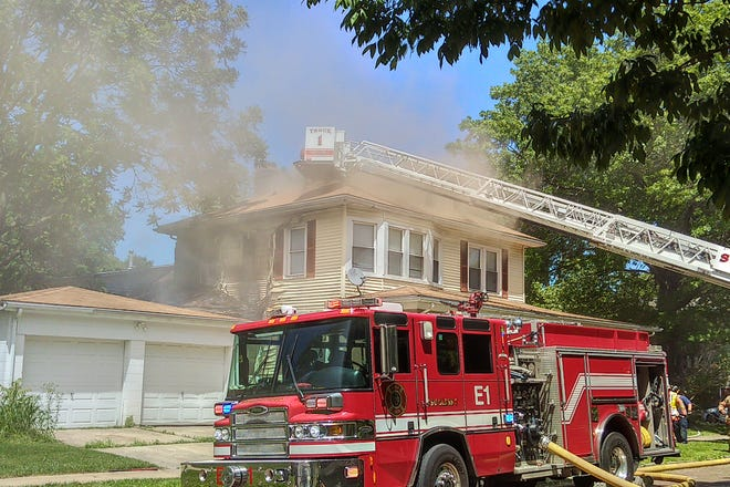 Units from three different fire stations respond to a fire at Glenwood Avenue and Governor Street Wednesday afternoon. Three adults and eight children were displaced from three different units.