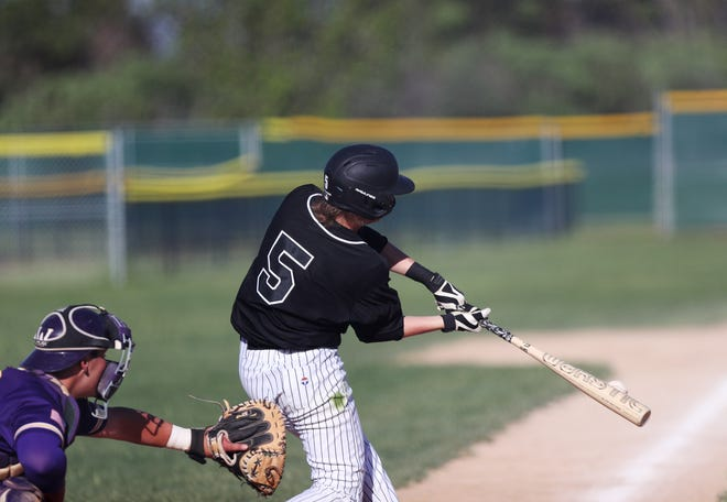 Tyler Hoffman doubled in the second game as the Aberdeen Smittys defeated the Spearfish Post 164 14-3 in the second game on Sunday.