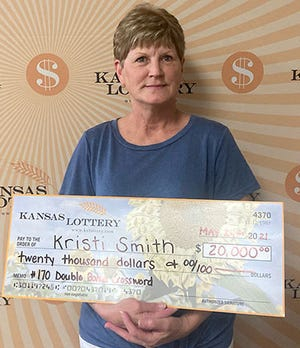 Topekan Kristi Smith recently won $20,000 in a Kansas Lottery scratch game.