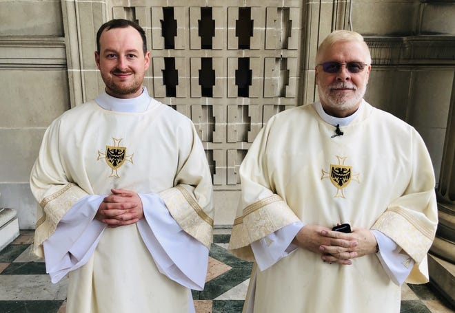 Deacon Michael Pleva and Deacon Mark Groeger were ordained into the priesthood.