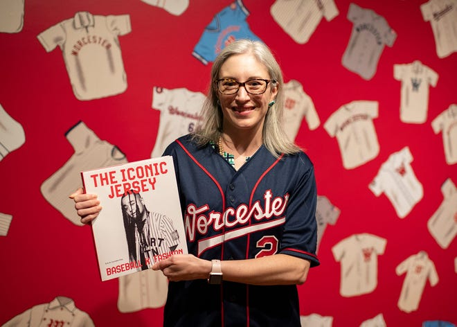 """Erin R. Corrales-Diaz curated the upcoming exhibition at Worcester Art Museum: """"The Iconic Jersey: Baseball x Fashion,"""" which run June 12 through Sept. 12."""