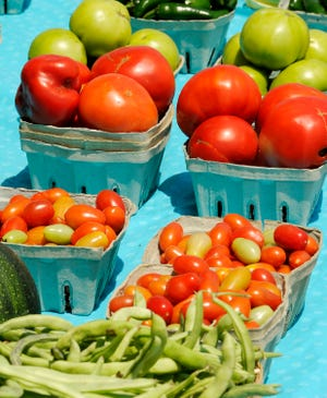 Fresh produce will be on sale at local farmer's markets this summer.