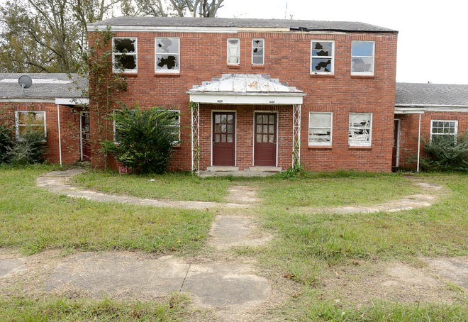 The old Garden Terrace apartments on Hillside Circle in East Gadsden are shown in a file photo.
