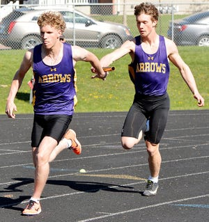 Sophomore Dalton Baumberger (left) and junior Collin Dingsor are two of the 43 Watertown High School athletes slated to compete in the Class AA portion of the 2021 State High School Track and Field meet on Friday and Saturday at Sturgis.