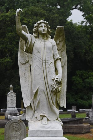 An angel statue on the grave of Mrs. Mary Josephine Girard who died in 1916 is the largest and most delicately carved figure in the Old Rapides Cemetery said Paul Price with the Historic Rapides Cemetery Preservation Society.