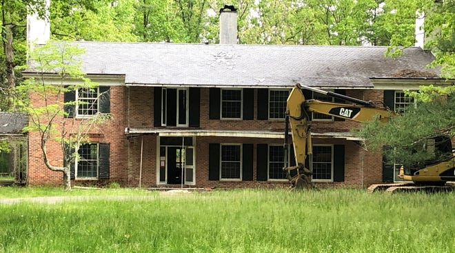 This seven-bedroom, seven-bath house in Biltmore Forest, built in 1956, will be demolished. It was condemned this year after falling into disrepair.