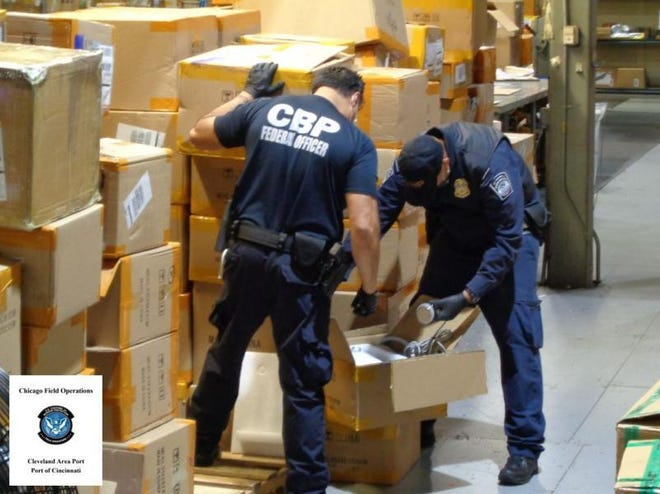 U.S. Customs and Border Protection officers in Cincinnati recently sidelined more than 300 shipments of fake and unapproved medicines, cosmetics and liposuction machines.