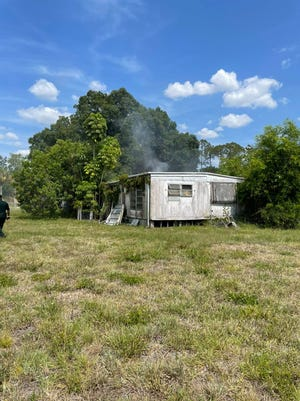Neighbors at a manufactured home on Dellwood Lane in Bonita Springs managed to alert their resident who was napping that the swelling was on fire Tuesday afternoon. The resident escaped without harm.