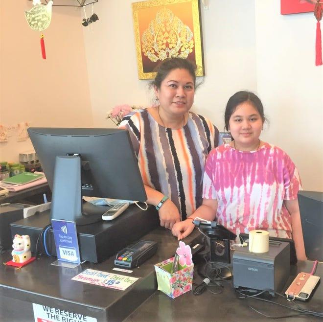 Mhai Thai owner Sasha Richaironarongsongkram, pictured with her daughter Tasha, opened her Canton restaurant in February of 2020.