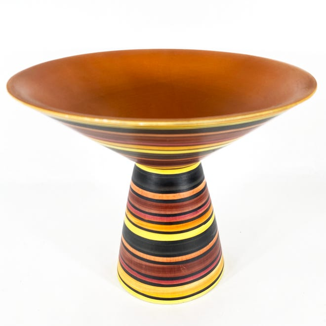 Bold paint and glazes like this emerged during the mid-century era.