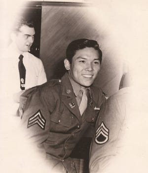 Allen Chin, circa 1942. Chin served as a U.S. Army machinist during World War II in the China-Burma-India Theater and was posthumously awarded a Congressional Gold Medal in 2021.