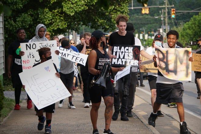 George Floyd Vigil and March at Waynesboro