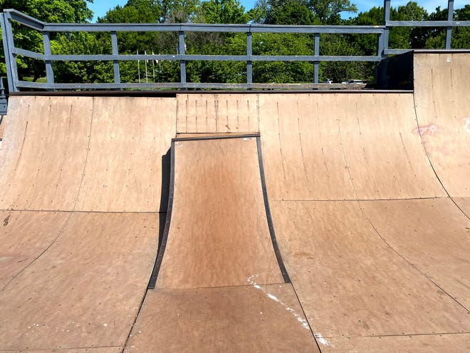 Damage is displayed  at the Staunton Recreation's Action Skate Park located in Gypsy Hill Park.