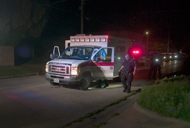 Wichita Falls emergency crews responded to the scene of a shooting Tuesday night on Avenue E on May 25, 2021.