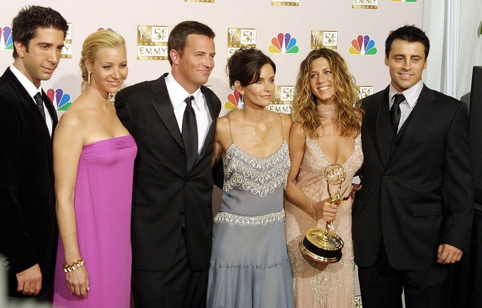 "Cast members of ""Friends"" on September 22, 2002, in Los Angeles."