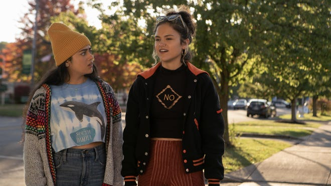 """Strait-laced Sunny (Kuhoo Verma, left) and her rebel BFF Lupe (Victoria Moroles) are South Dakota high schoolers on an epic trip to find a morning-after pill in the comedy """"Plan B."""""""