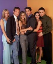 """""""Friends"""" cast in Jan. 1998."""