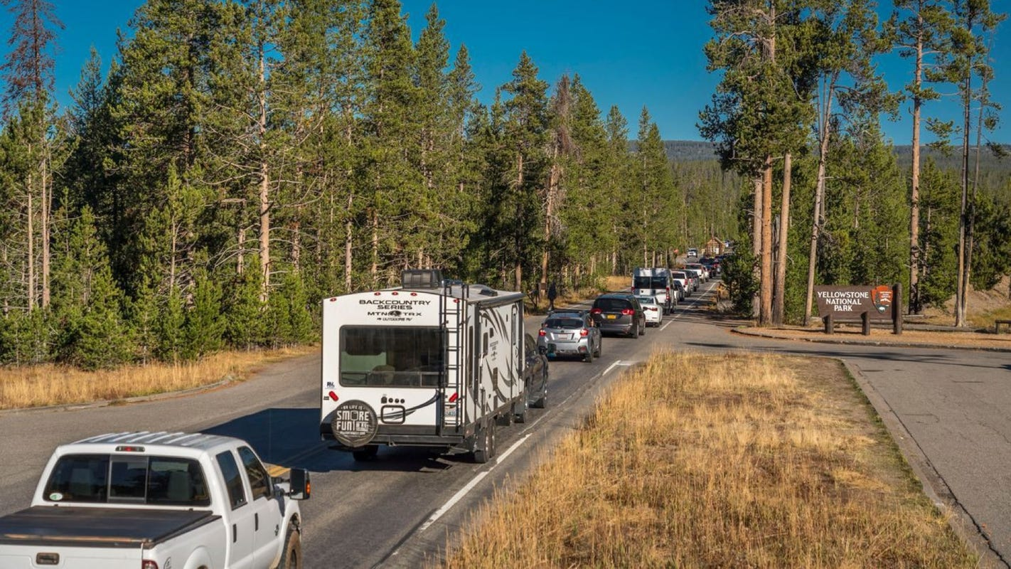 Record number of visitors flocked to Yellowstone National Park in May