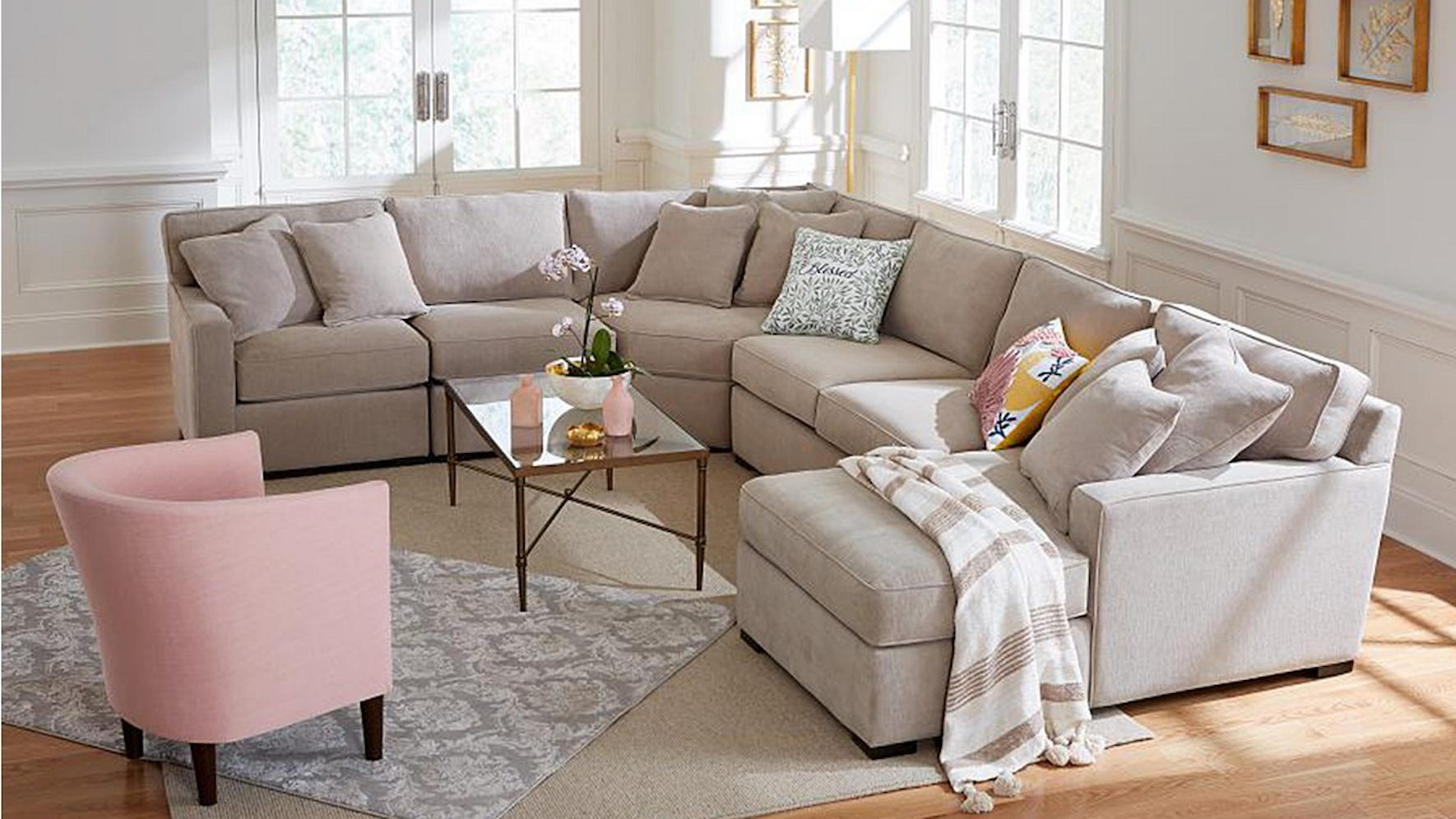 From sofas to media consoles, your living room revamp is just a few clicks away.