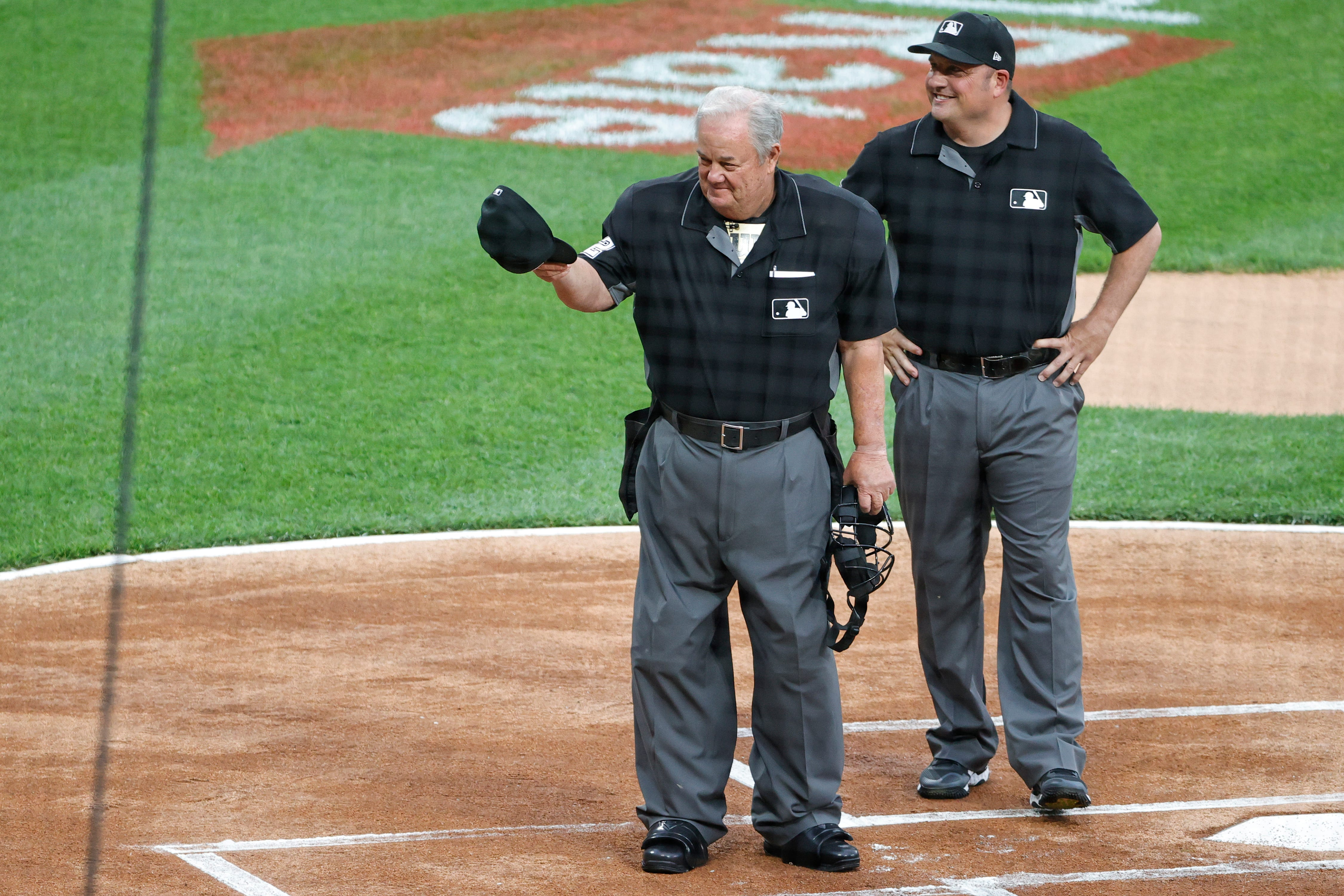 'What did you expect?' Joe West booed as he sets record with his 5,376th game as an umpire